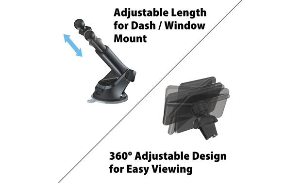 JVC KS-GC10Q Its telescoping arm and rotating base plate give you the best viewing angle