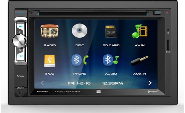 Dual XDVD276BT Add touchscreen controls to your car with the Dual XDVD276BT