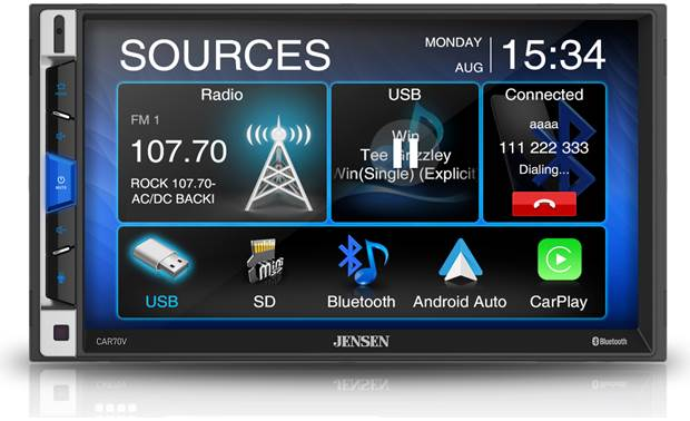 Jensen CAR70V Enjoy Apple CarPlay and Android Auto on a big display