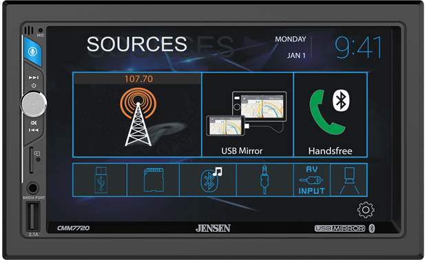Jensen CMM7720 Add touchscreen control to your music sources