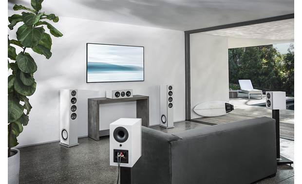 Definitive Technology Demand D5C Shown as part of a Demand Series home theater