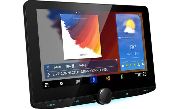 Kenwood DMX1037S Customizable widgets let you organize the home screen