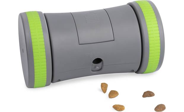 PetSafe Kibble Chase™ Roaming Treat Dropper Tough rubber wheels roll quietly and easily on most indoor floor surfaces