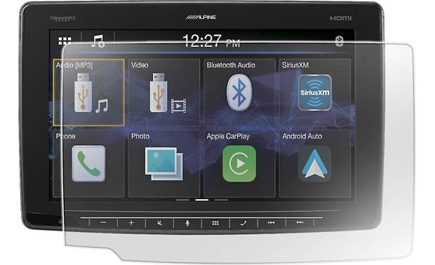Alpine KTX-HF11 keeps your screen free from damage and smears (radio not included!)