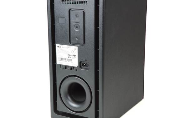 LG SN6Y Back of subwoofer