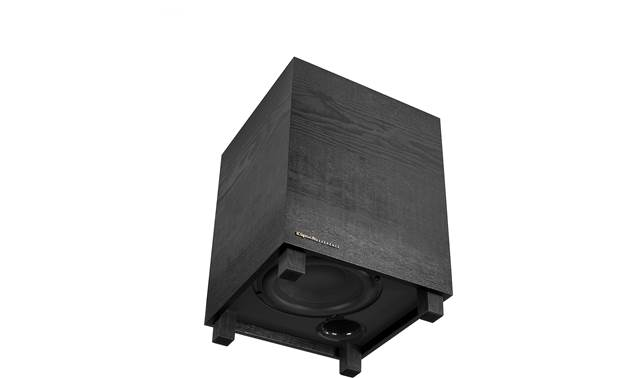 "Klipsch Cinema 400 Sub has 8"" downfiring woofer"