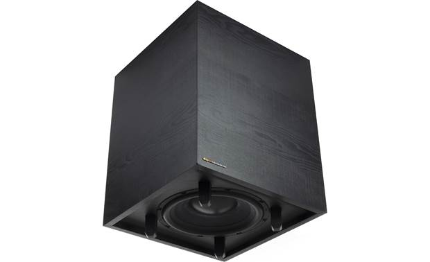 "Klipsch Cinema 800 Sub has 10"" downfiring woofer"