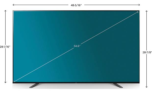 Sony XBR-55A8H Dimensions
