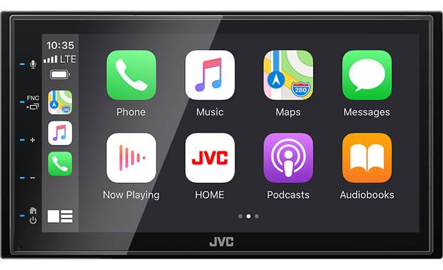 JVC KW-M56BT Apple CarPlay in action