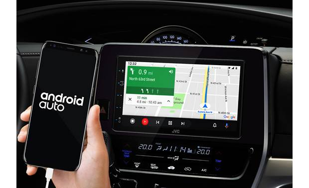 JVC KW-M56BT Android users can use the onscreen interface they know with Android Auto