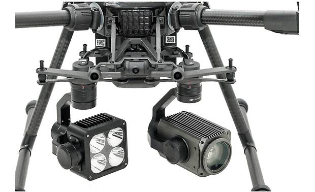 DJI Wingsland Z15 Gimbal Spotlight Shown mounted in dual-downward gimbal configuration (drone and camera not included)