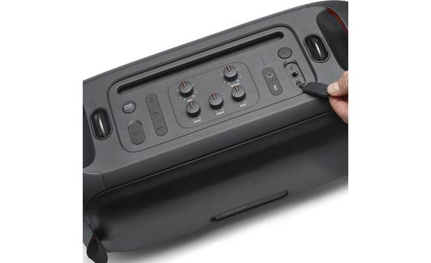 JBL PartyBox On-The-Go Control panel detail