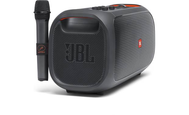 JBL PartyBox On-The-Go built-in mic strap