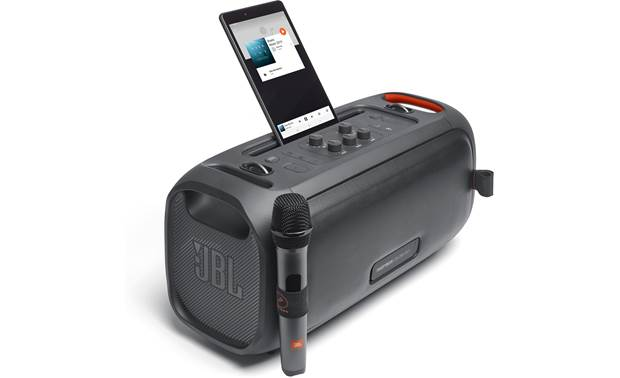 JBL PartyBox On-The-Go Built-in slot for smartphone or tablet (not included)