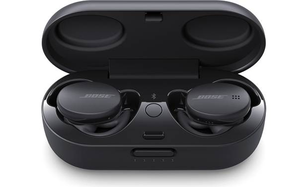 Bose Sport Earbuds The charging case banks enough power to recharge the earbuds twice