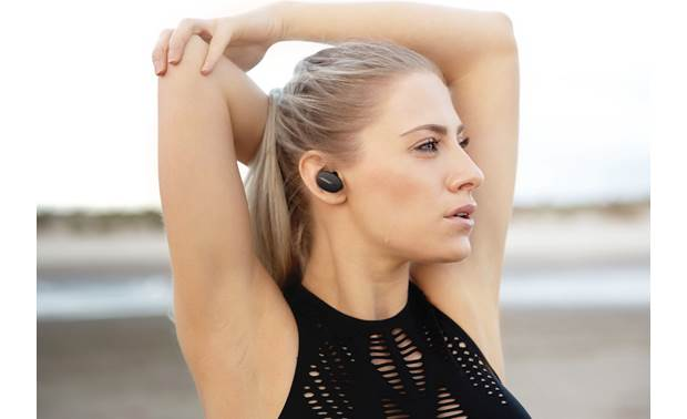 Bose Sport Earbuds Music plays wirelessly via Bluetooth