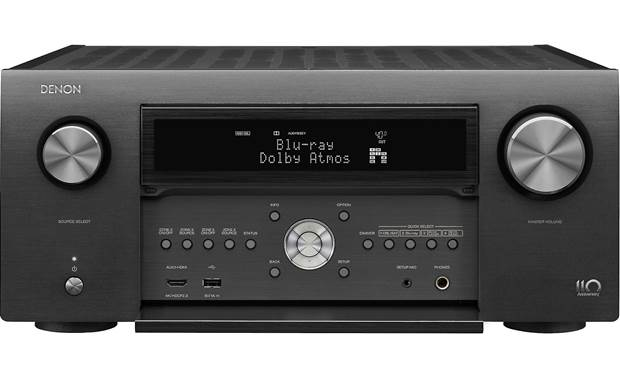 Denon AVR-A110 (110th Anniversary Edition) Shown with front panel open