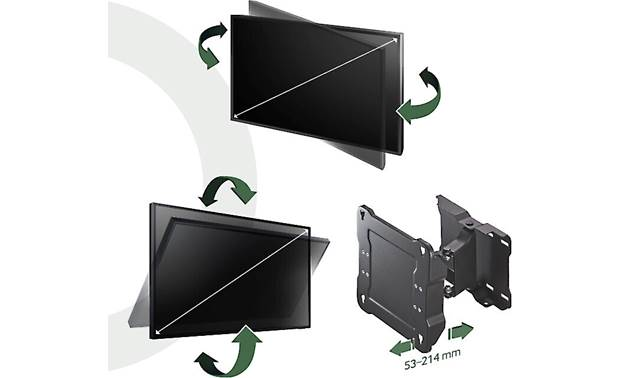 Samsung WMN4070TT/ZA The mount lets you tilt, swivel, and extend the TV out from the wall