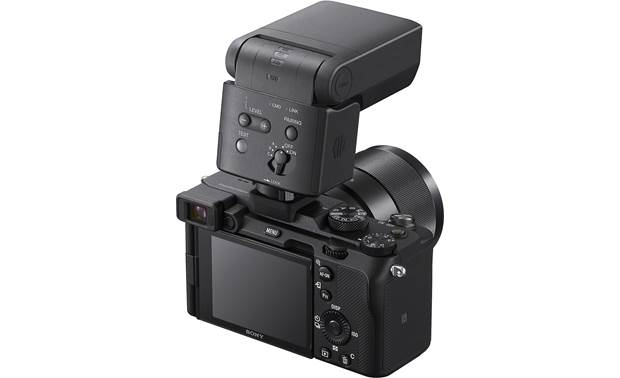 Sony HVL-F28RM Can serve as a radio trigger for additional HVL-F28RM flashes when mounted to a compatible camera (camera not included)
