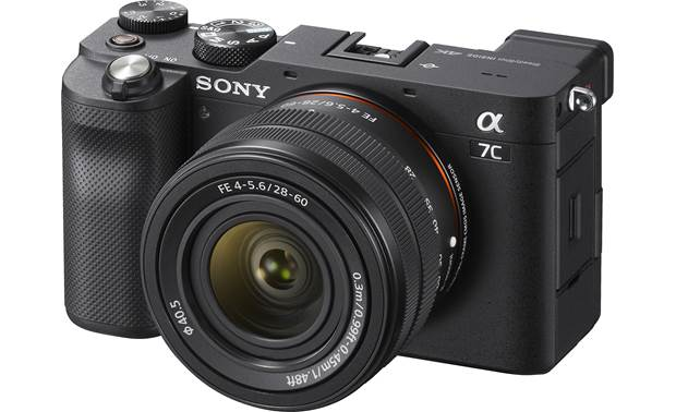 Sony Alpha 7C Zoom Lens Kit Shown with included zoom lens