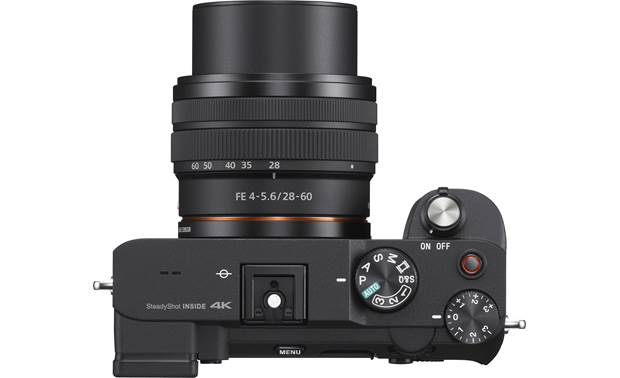 Sony Alpha 7C Zoom Lens Kit Top-panel controls