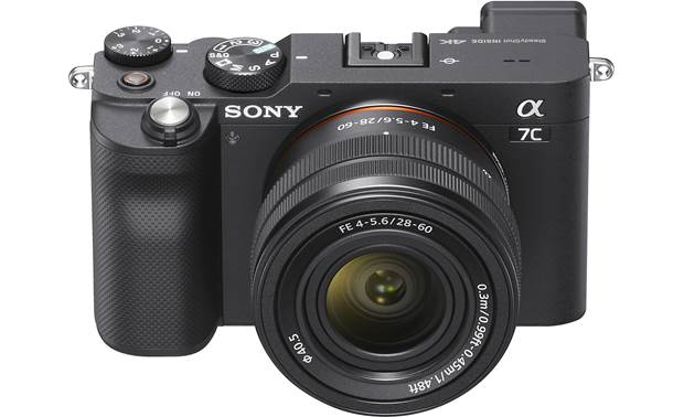 Sony Alpha 7C Zoom Lens Kit Direct front view with lens attached