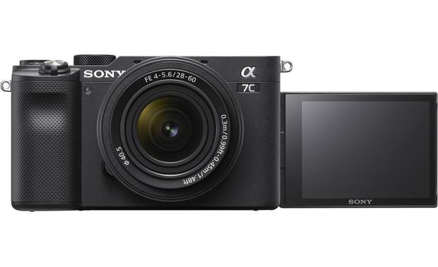 Sony Alpha 7C Zoom Lens Kit The rotating LCD screen is ideal for vlogging