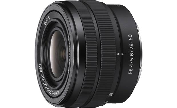 Sony FE 28-60mm f/4-5.6 Angled view with caps removed