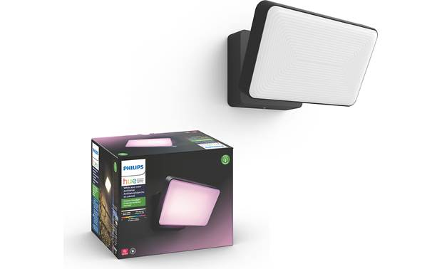 Philips Hue White & Color Ambiance Discover Outdoor Floodlight Two bright built-in LEDs can illuminate larger areas