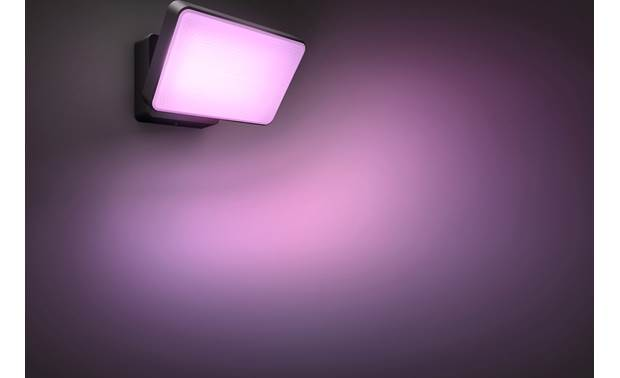 Philips Hue White & Color Ambiance Discover Outdoor Floodlight Choose from 16 million colors or 50,000 shades of cool to warm white light to match any mood or event