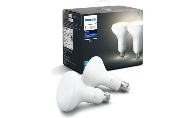 Philips Hue White BR30 Bulb 2-pack BR30 form factor with E26 Edison screw fitting for floodlights and recessed cans