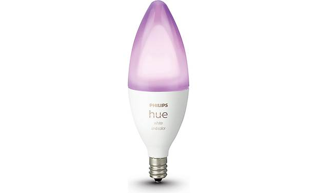 Philips Hue White and Color Ambiance E12 Bulb Front