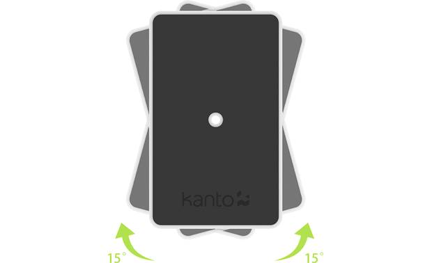 Kanto SP6HD Top plates rotate up to 30 degrees