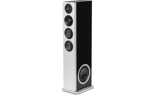 Definitive Technology Demand D17 Angled view of left speaker with grille removed