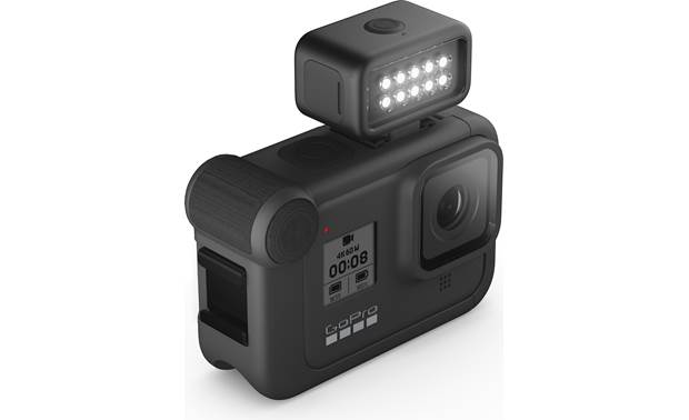 GoPro Light Mod Shown top-mounted on camera (not included)