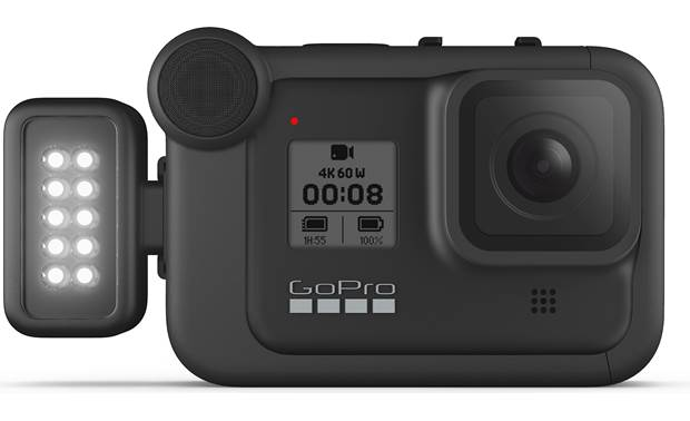 GoPro Light Mod Shown side-mounted on camera (not included)