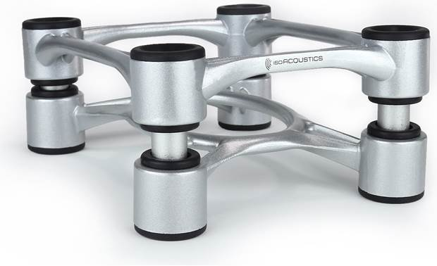 IsoAcoustics Aperta Speaker Stands Closeup detail (Aluminum finish)