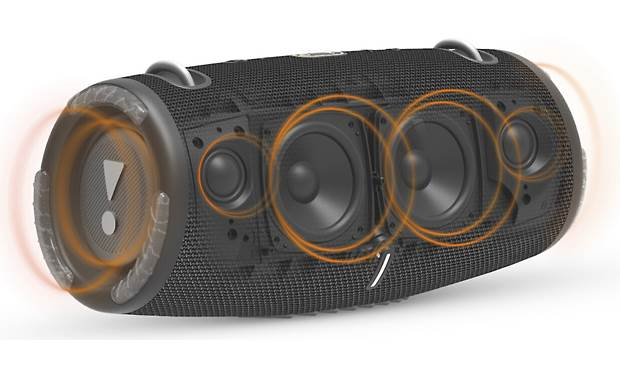 JBL Xtreme 3 Two tweeters and two woofers for big sound