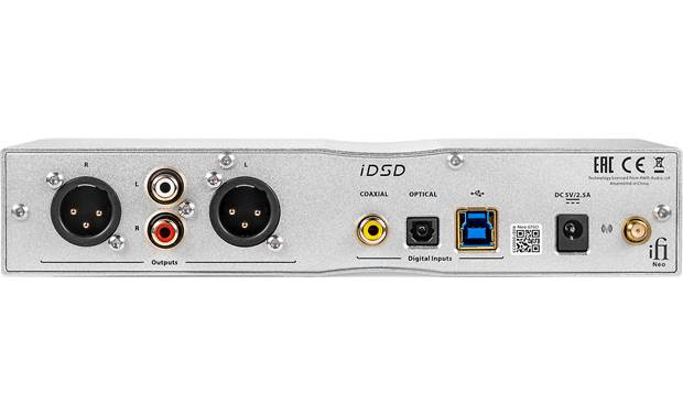 iFi Audio NEO iDSD Back-panel connections