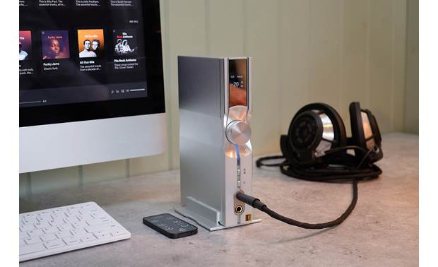 iFi Audio NEO iDSD Fits neatly into a desktop setup (positioned vertically or horizontally)