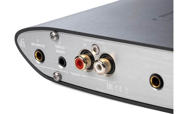 iFi Audio ZEN CAN (Standard Edition) Back-panel analog inputs for connecting a separate DAC or music source