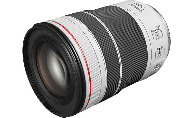 Canon RF 70-200mm f/4 L IS USM Shown fully zoomed out with lens hood removed