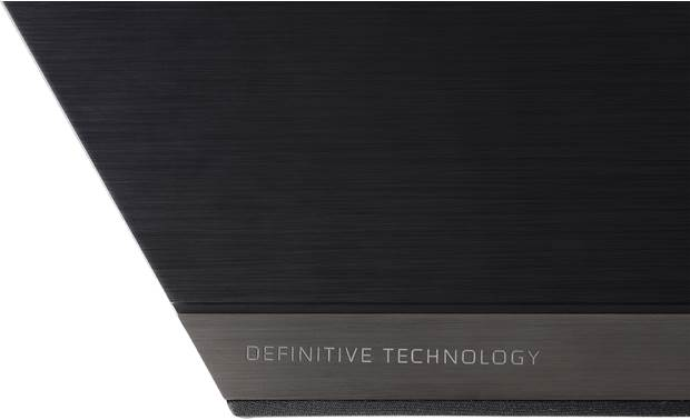 Definitive Technology Studio 3D Mini Sound bar has a clean, angled design