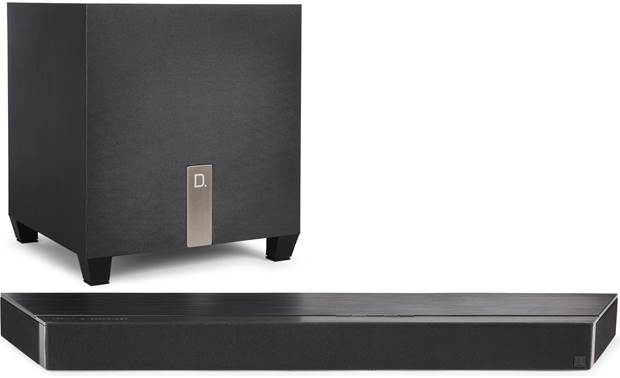 Definitive Technology Studio 3D Mini Sound bar and subwoofer have a clean, modern look