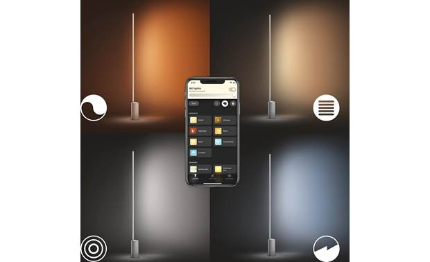 Philips Hue White and Color Ambiance Signe Floor Light Preset light recipes provide the right shade of white light for different tasks