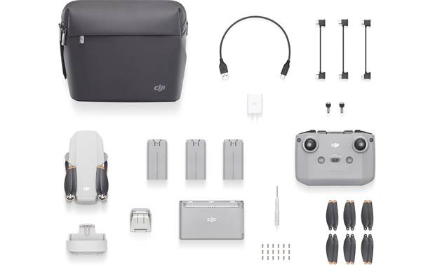 DJI Mini 2 Fly More Combo Contains additional accessories to help keep your drone in the air longer