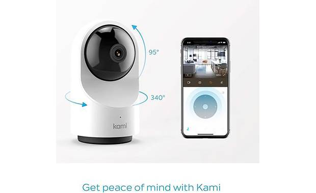 Kami Indoor Camera You can also use the app to control the camera's pan and tilt