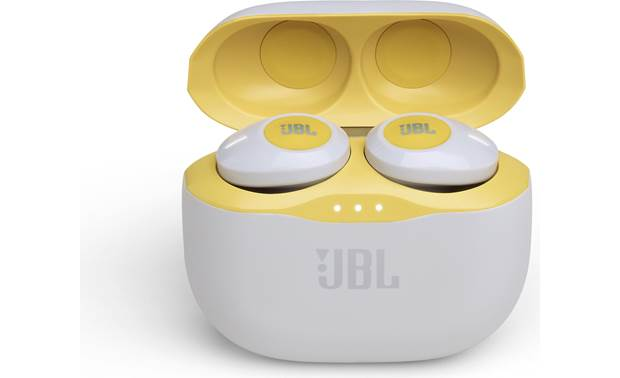 JBL Tune 120TWS LED lights indicate battery levels of case and earbuds