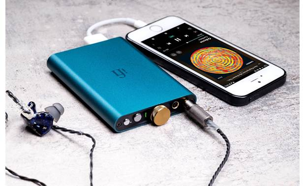 iFi Audio hip-dac Connects to your iPhone with Apple Lightning adapter (sold separately)