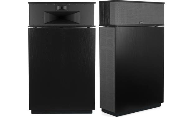Klipsch Heritage Klipschorn AK6 Shown with grilles removed on one speaker